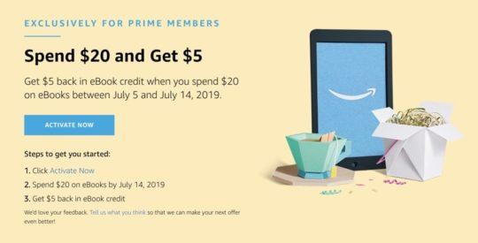 Prime Day 2019 Kindle deals - get ebook credit