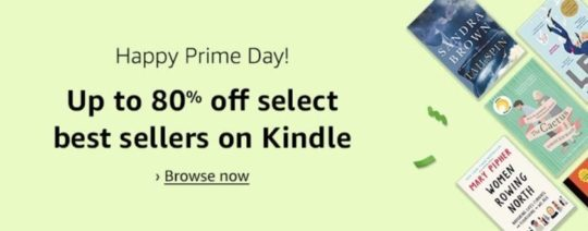 Prime Day deals on Kindle books are available for all customers