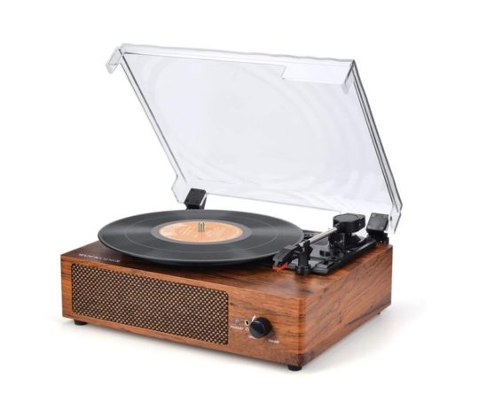 Vintage 3-speed record player with Bluetooth