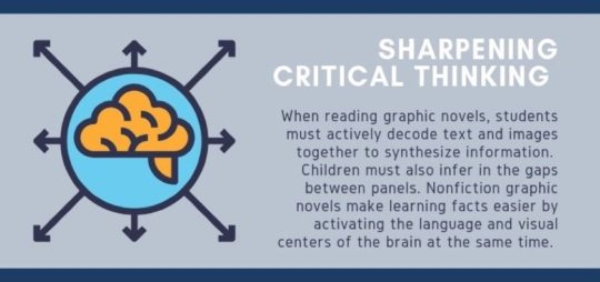Benefits of reading graphic novels - sharpen critical thinking