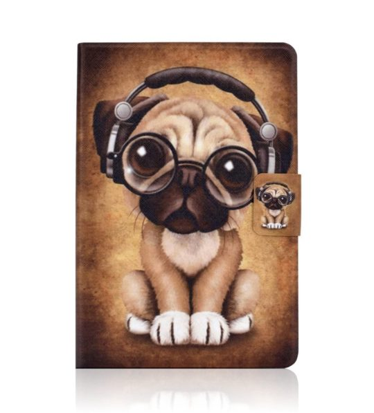 Cute iPad 10.2 cover - dog with glasses