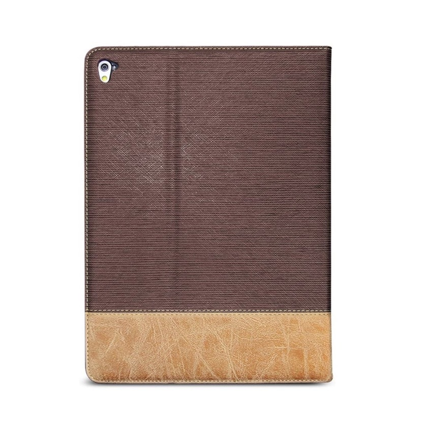 Dual-color faux leather iPad 10.2 case cover