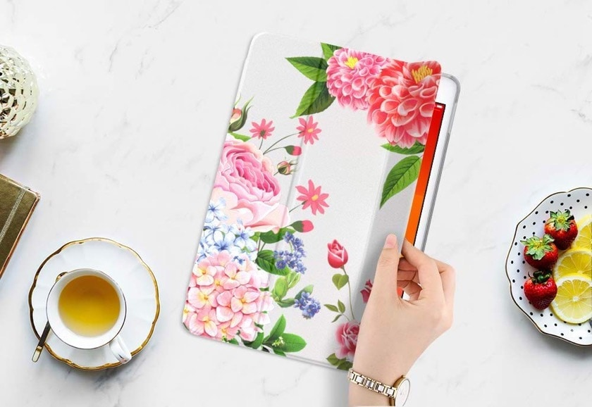 Floral cover for iPad 10.2