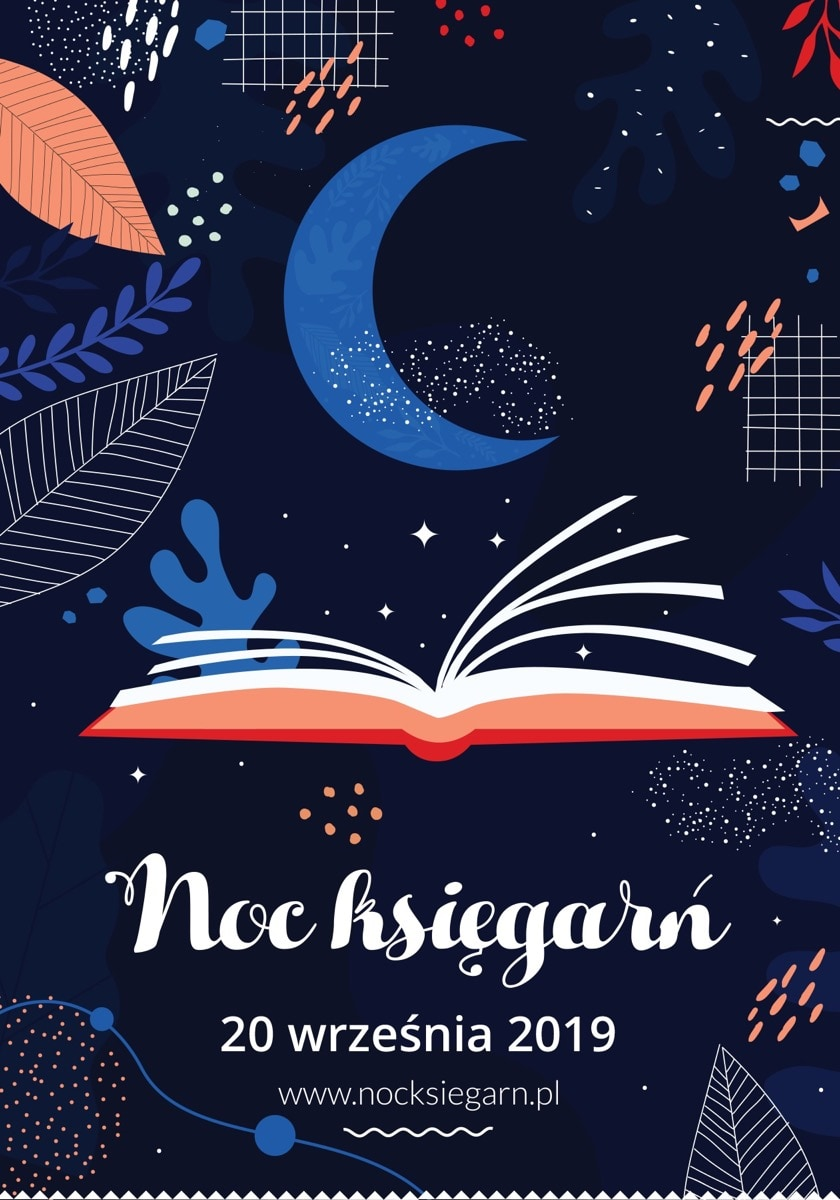 Official poster of the 1st Night of Bookstores in Poland