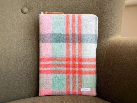 Pure wool Abraham Moon tweed sleeve for iPad 10.2