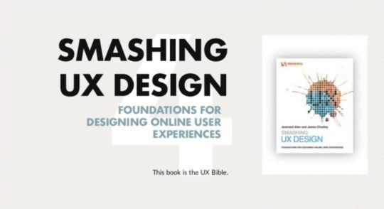 Smashing UX Design - best books on user experience and usability