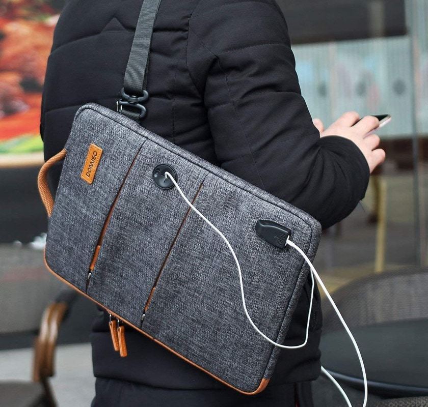 iPad 10.2 sleeve with external USB charging port
