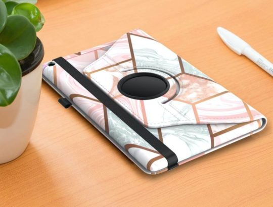360-degree rotatable Amazon Kindle Fire 10 swivel stand case