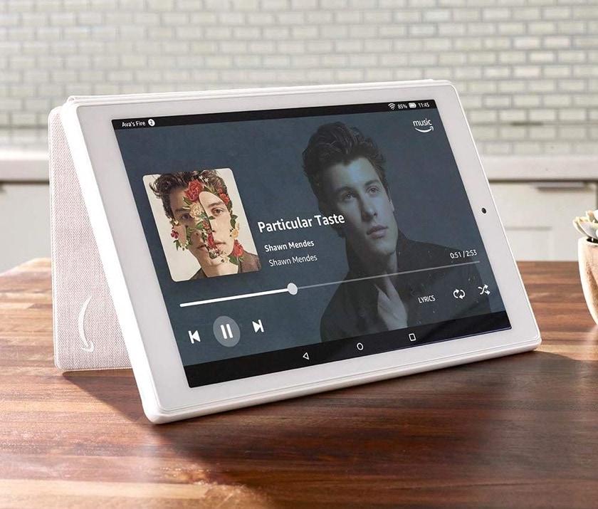 Amazon Fire HD 10 2019 - original case in Sandstone White