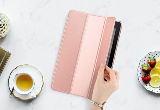 Amazon Fire 10-inch case in Rose Gold