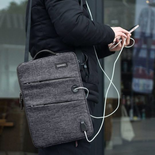 Amazon Fire HD 10 sleeve bag with USB charging port