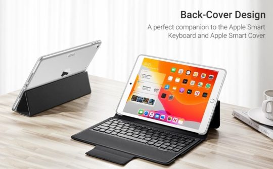 Clever iPad 10.2 back case compatible with Smart Keyboard and Cover