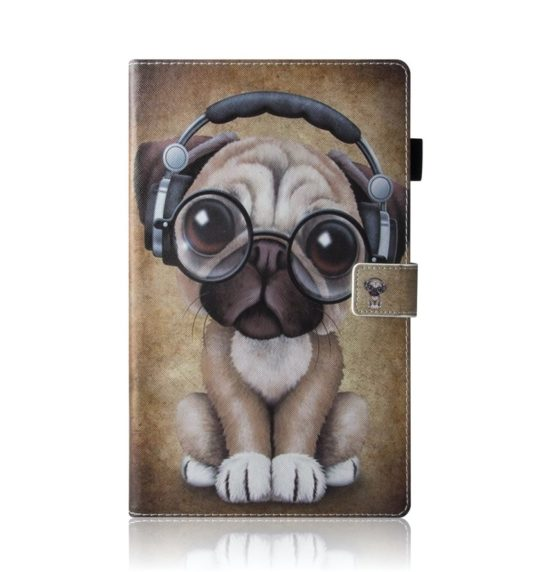 Cute Dog book-style case for the latest Amazon Fire 10