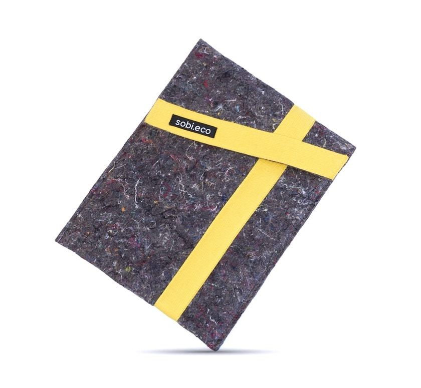 Environmentally friendly iPad Air 3 sleeve from recycled materials
