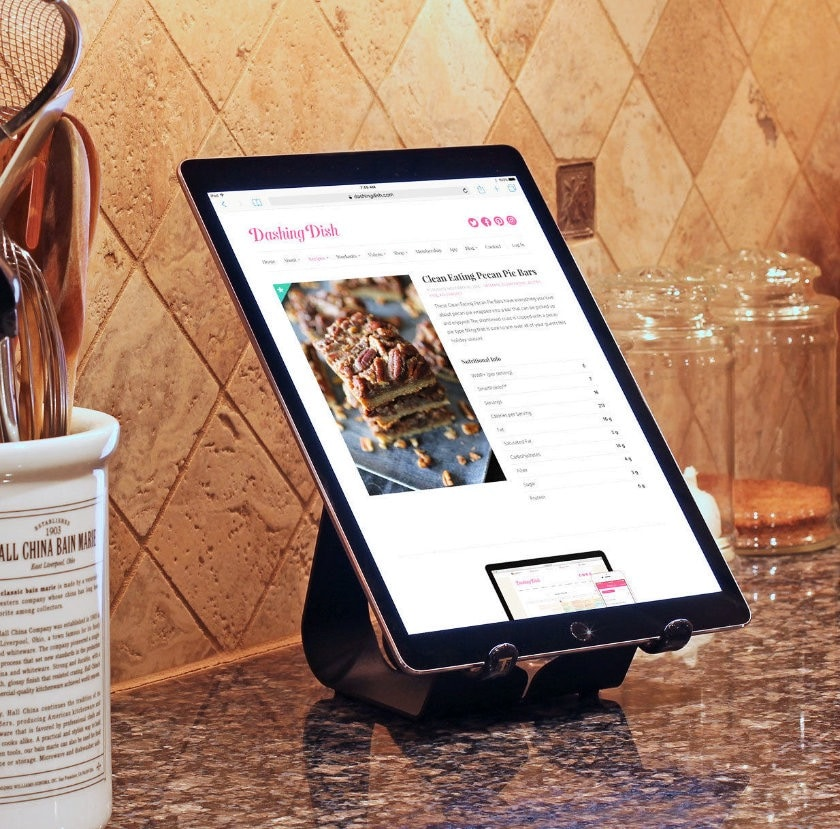 Ergonomic display stand for Fire and other tablets