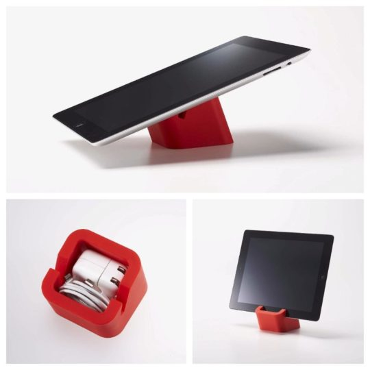 Innovative fun tablet stand and charger box