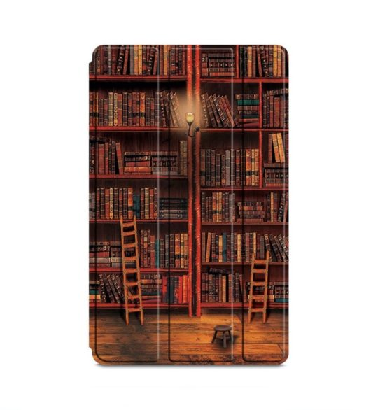 Library-themed Fire 7 tri-fold case