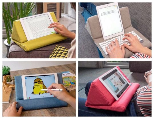 Multi-functional tablet pillow by Ipevo for Fire and other tablets