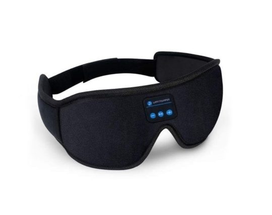 Bluetooth speakers integrated into sleep mask - gifts for book loving people