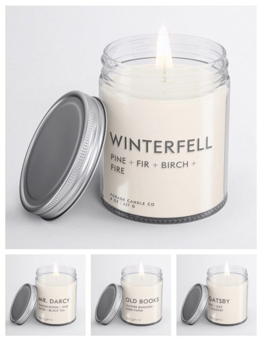 Cruelty-free book-scented candles