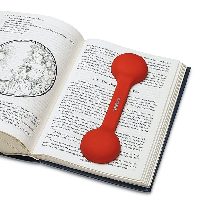 Bookmark and weighted page holder - best gifts for book lovers