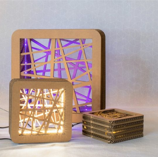 Cardboard reading lamp - best gifts for book lovers to give in 2020