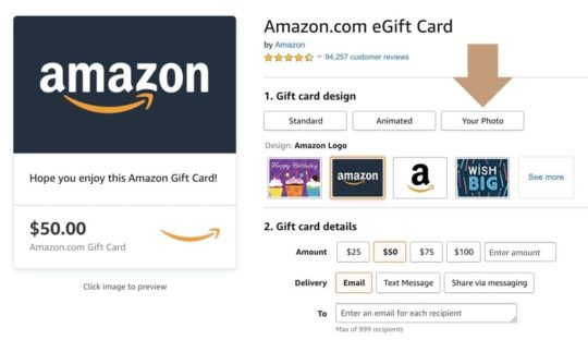 Customize Amazon Gift Card with Audible related design