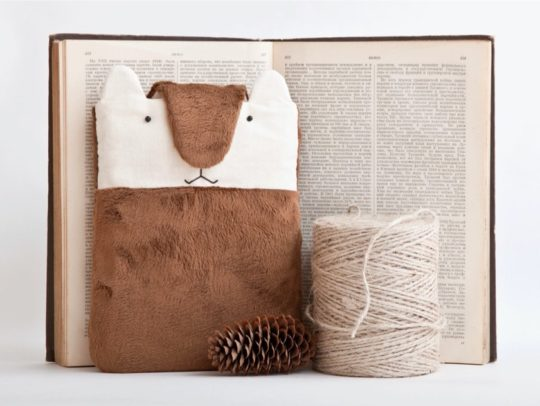 Cute fluffy Kindle sleeve