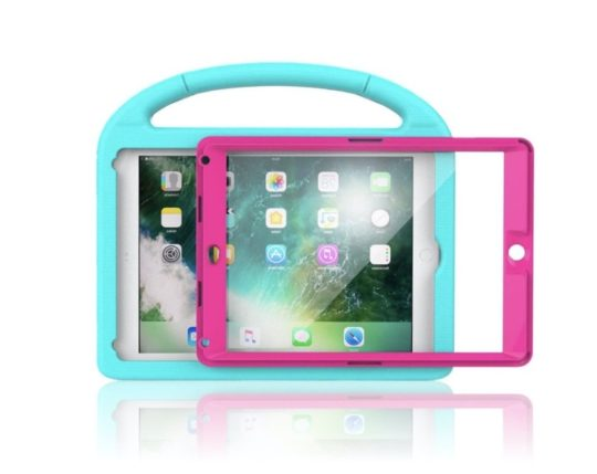 Dual-color shockproof iPad 10.2 kids case