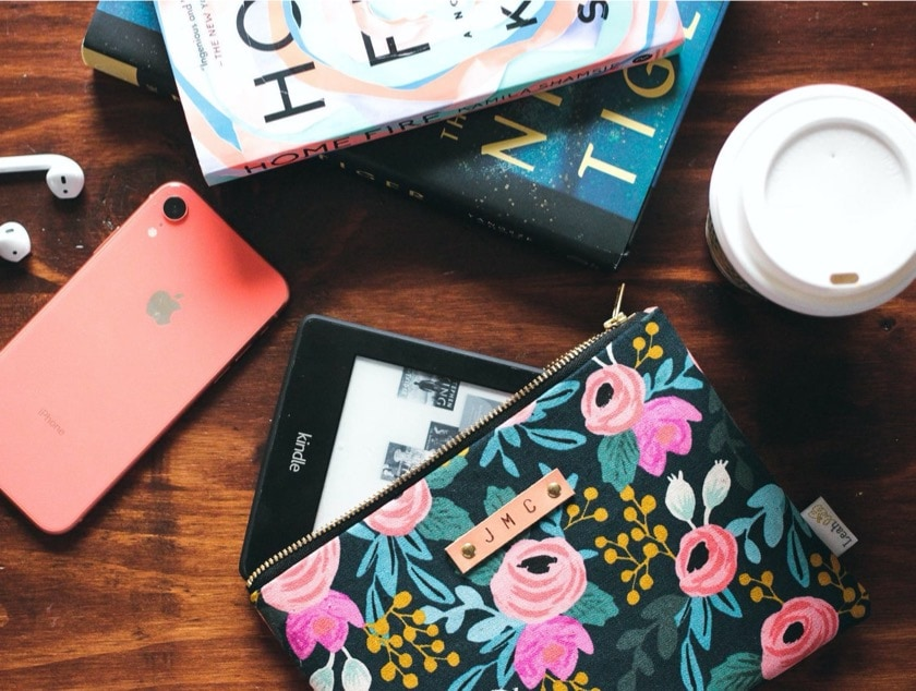 Floral Kindle fashion pouch for women