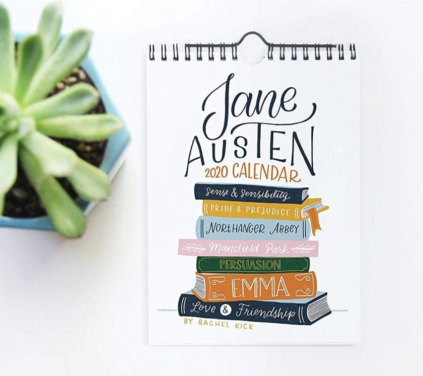 Jane Austen quotes 2020 calendar