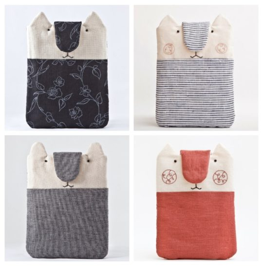 Julia Cute pet shaped Kindle sleeves