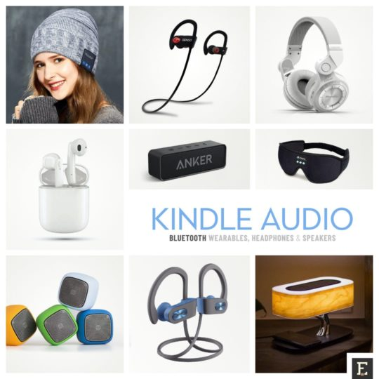 Kindle compatible Bluetooth wearables headphones speakers