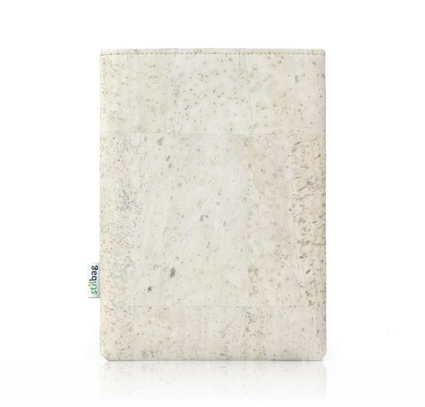 Kindle sleeve made of white cork