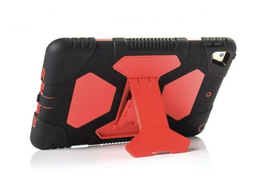 Rugged Apple iPad 9.7 kids case with kickstand