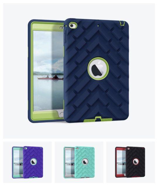 Rugged anti-slip bumper kids case for iPad mini