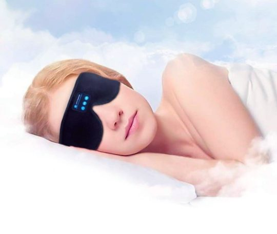 Sleep eye mask with Bluetooth speakers - top tech gifts for audiobook and book fans