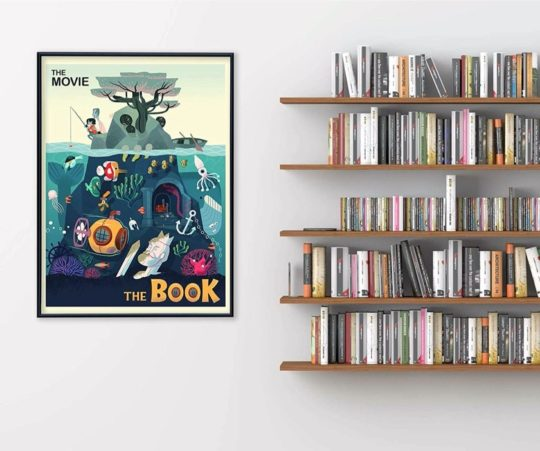 """The Movie vs The Book"" poster - gifts for book readers 2020"