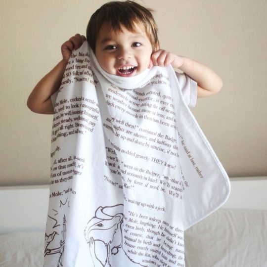 The Wind in the Willows baby blanket - new bookish gifts
