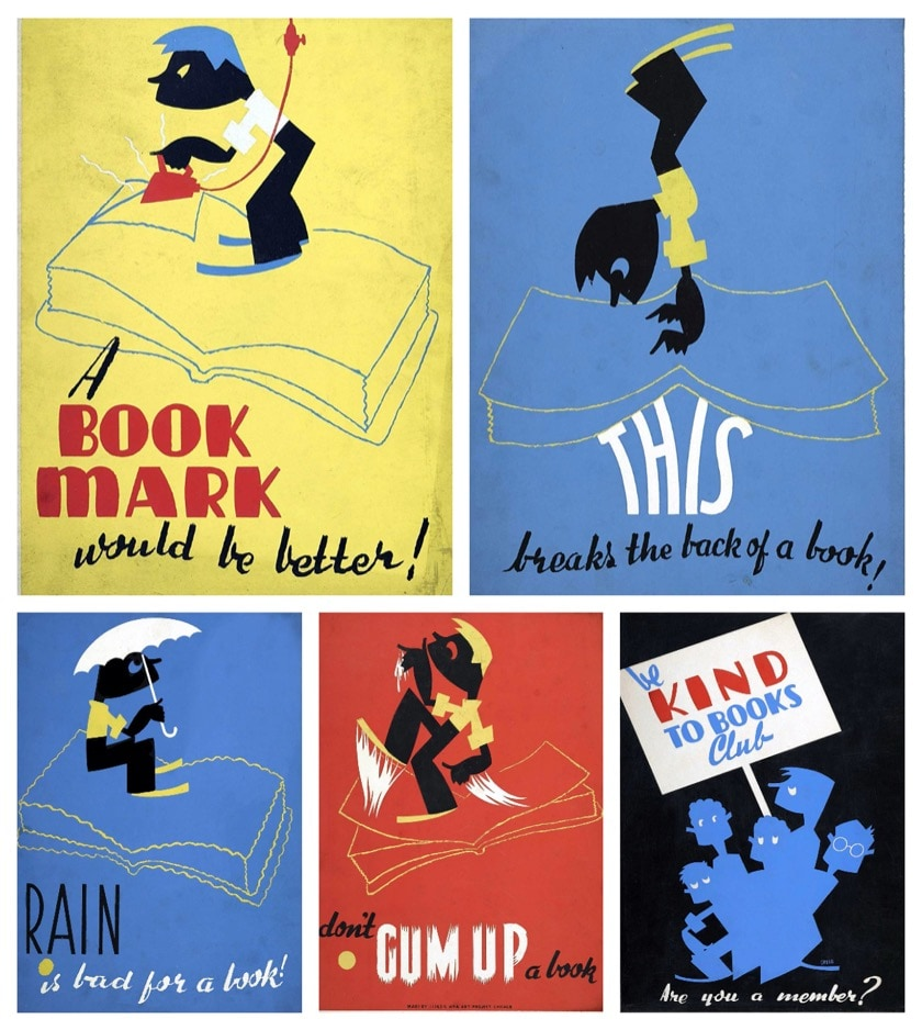 Vintage book posters from iconic WPA series