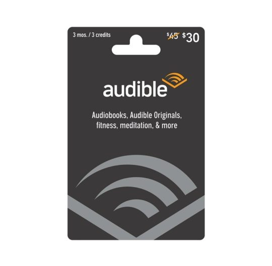 Ways to gift Audible audiobooks - a dedicated Audible gift card