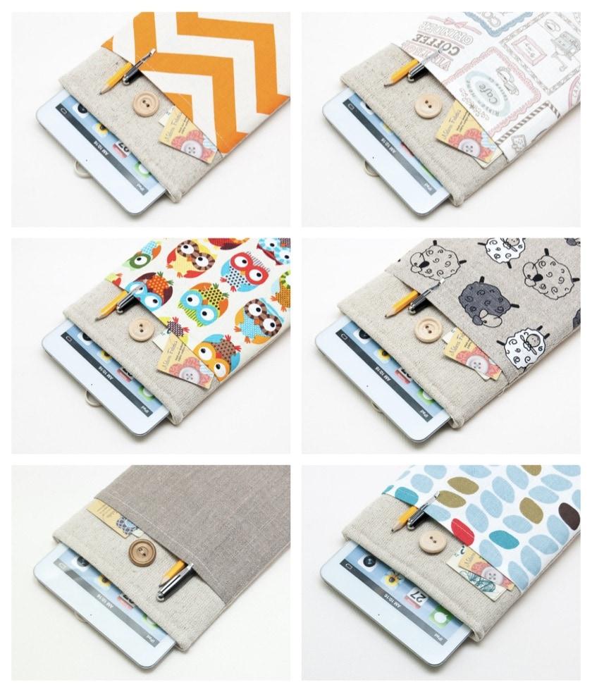 Wonderful BluCase white linen Kindle sleeves