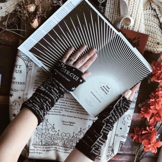 Writing gloves inspired by The Night Circus - best gifts for booklovers