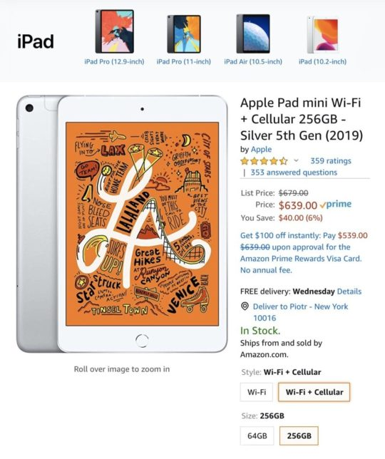 iPad prices on Amazon are lower