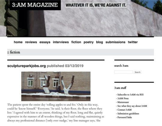 3:AM Magazine - short stories online