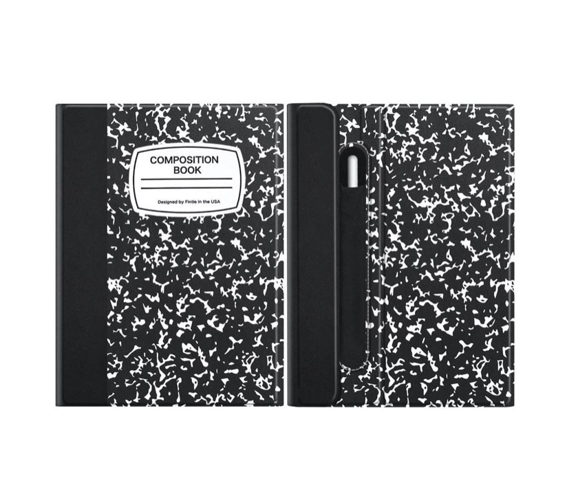 Business-style iPad Pro 11 keyboard folio case - Composition Book