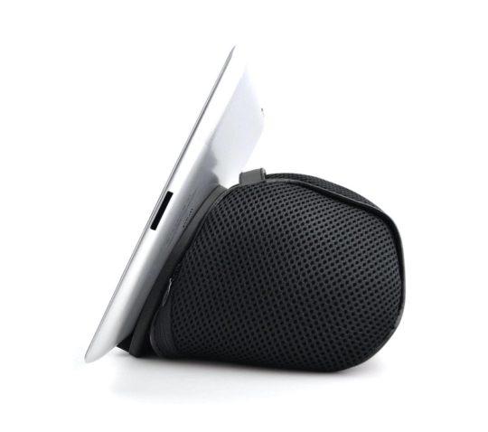 Comfortable iPad bean bag for reading