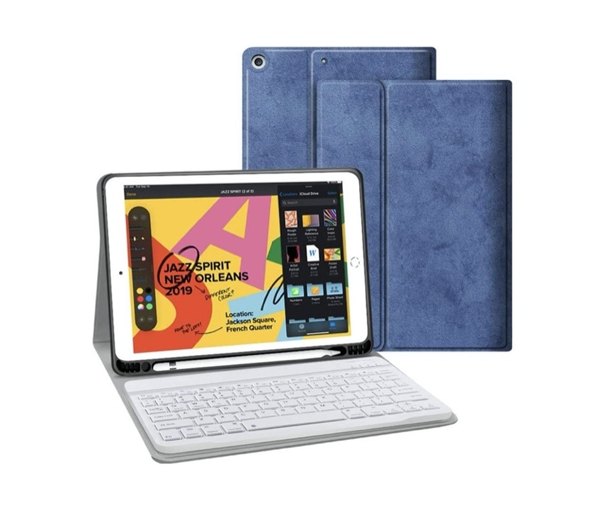 Detachable iPad 10.2 keyboard case - best on Amazon