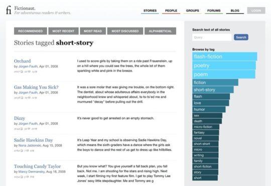Fictionaut - the best short stories online