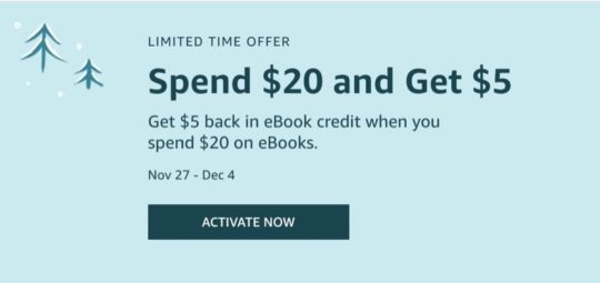 Get $5 back in ebook credit